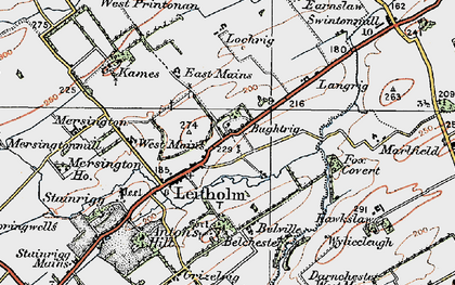 Old map of Leet Water in 1926