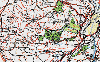 Old map of Lelant Downs in 1919