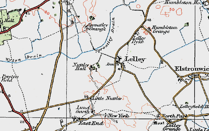 Old map of Lelley in 1924