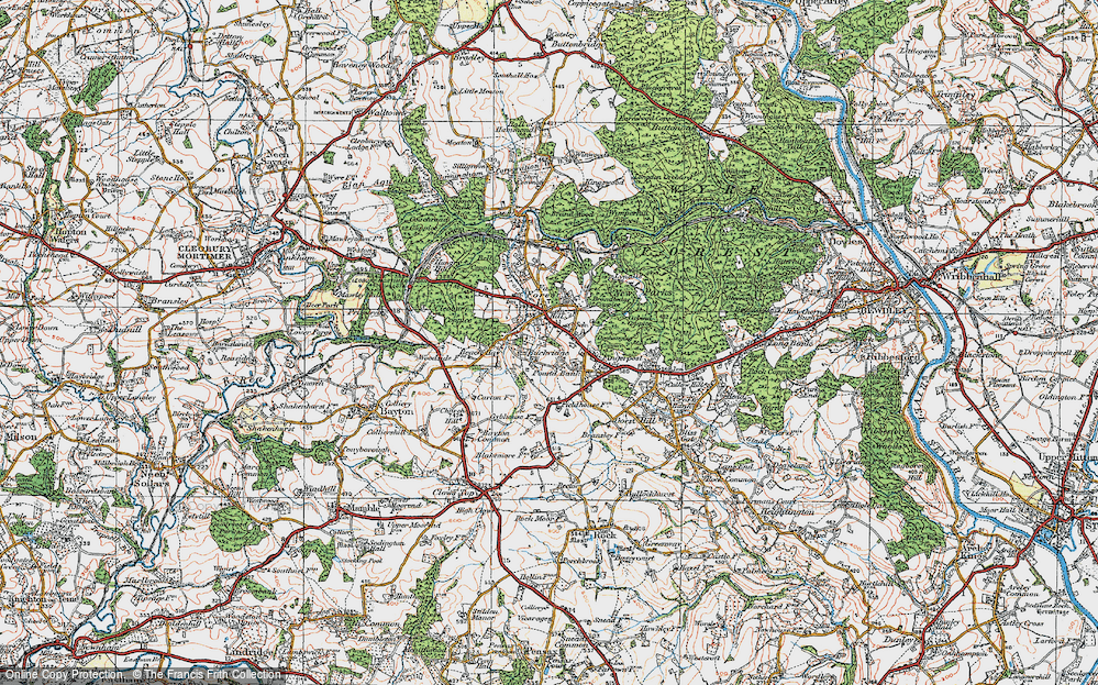 Old Map of Lem Hill, 1921 in 1921