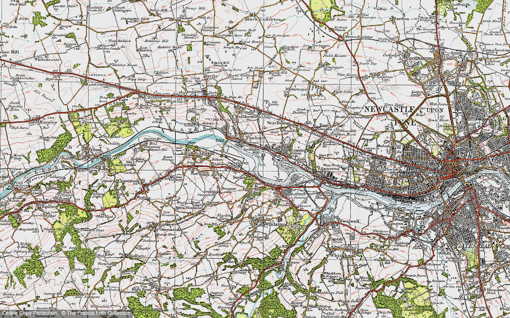 Old Map of Lemington, 1925 in 1925