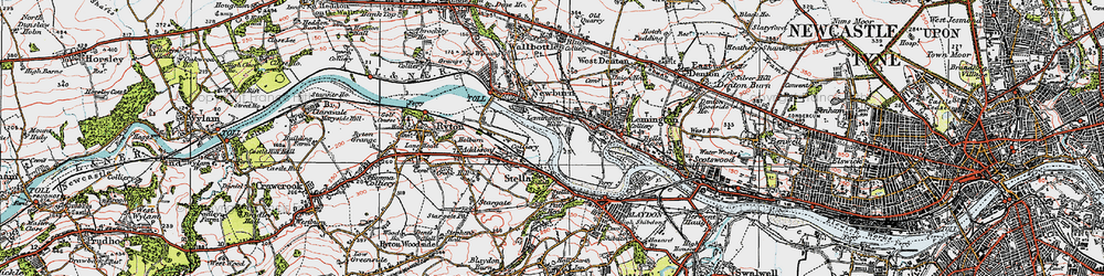 Old map of Lemington in 1925