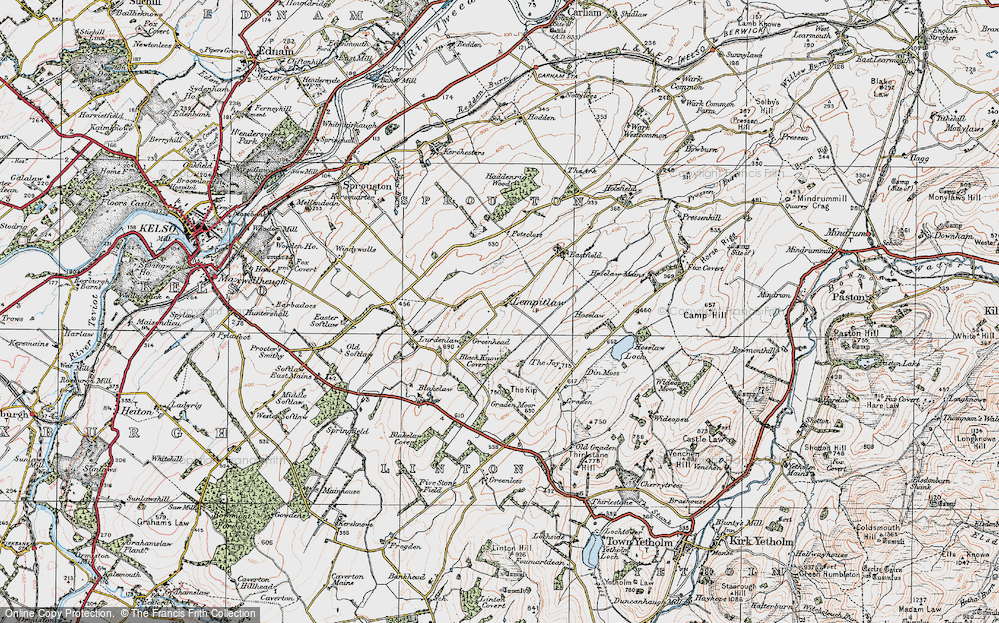 Old Map of Lempitlaw, 1926 in 1926