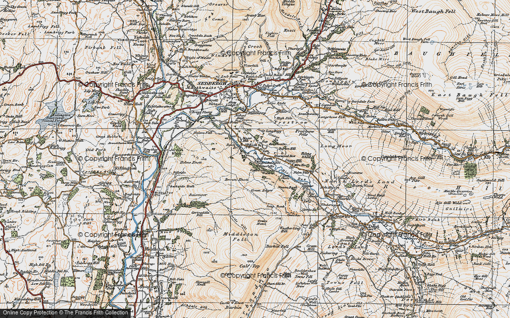 Old Map of Lenacre, 1925 in 1925