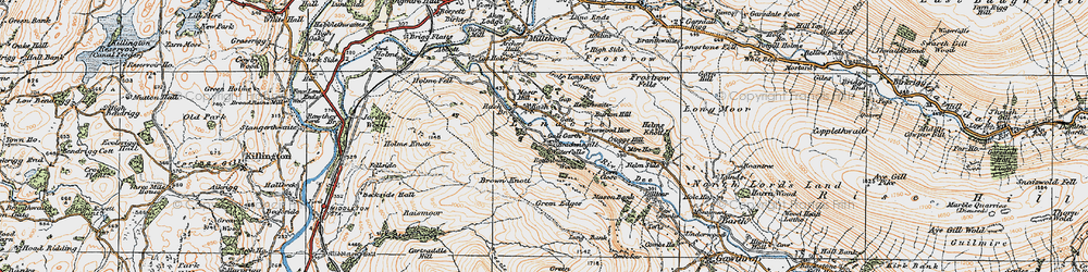 Old map of Lenacre in 1925