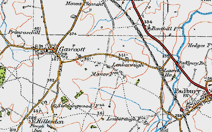 Old map of Lenborough in 1919