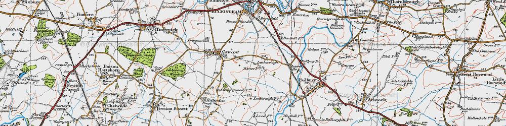 Old map of Lenborough in 1919