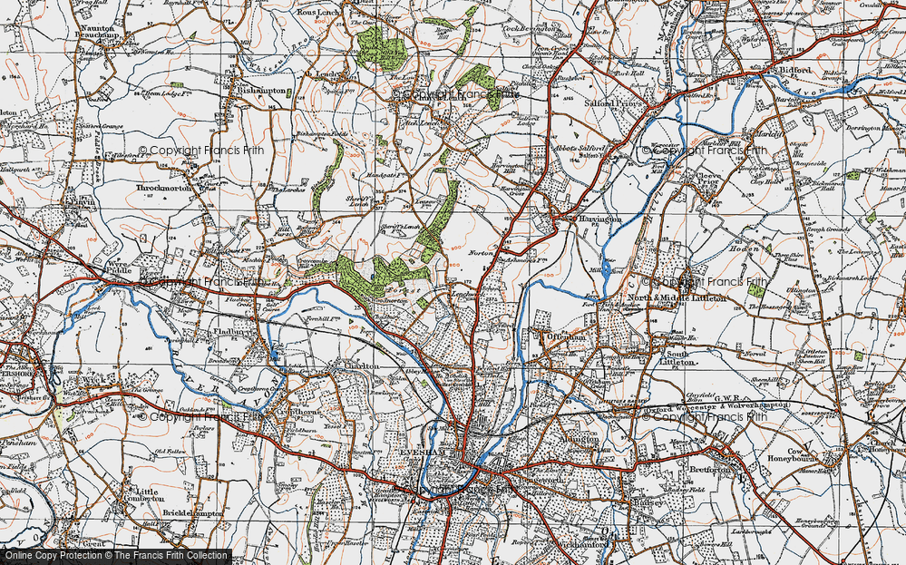 Old Map of Lenchwick, 1919 in 1919