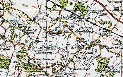 Old map of Lenham Heath in 1921