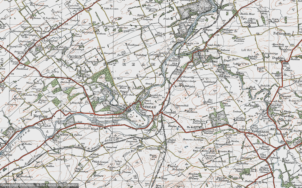Old Map of Historic Map covering Lennelhill in 1926