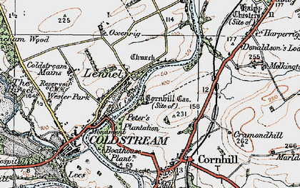 Old map of Lennelhill in 1926