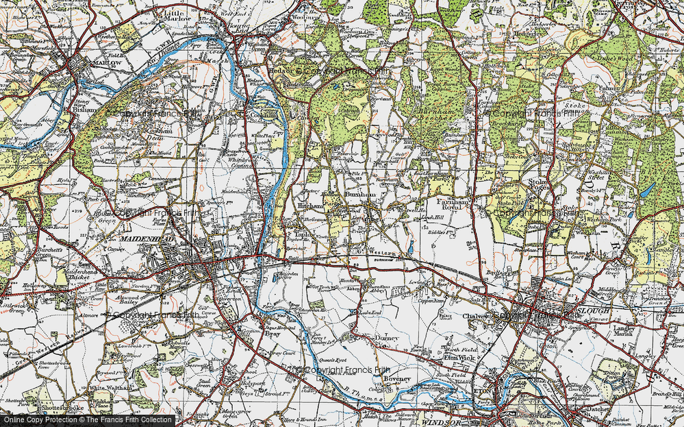 Old Map of Lent, 1920 in 1920
