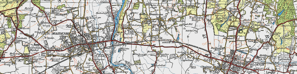 Old map of Lent Rise in 1920
