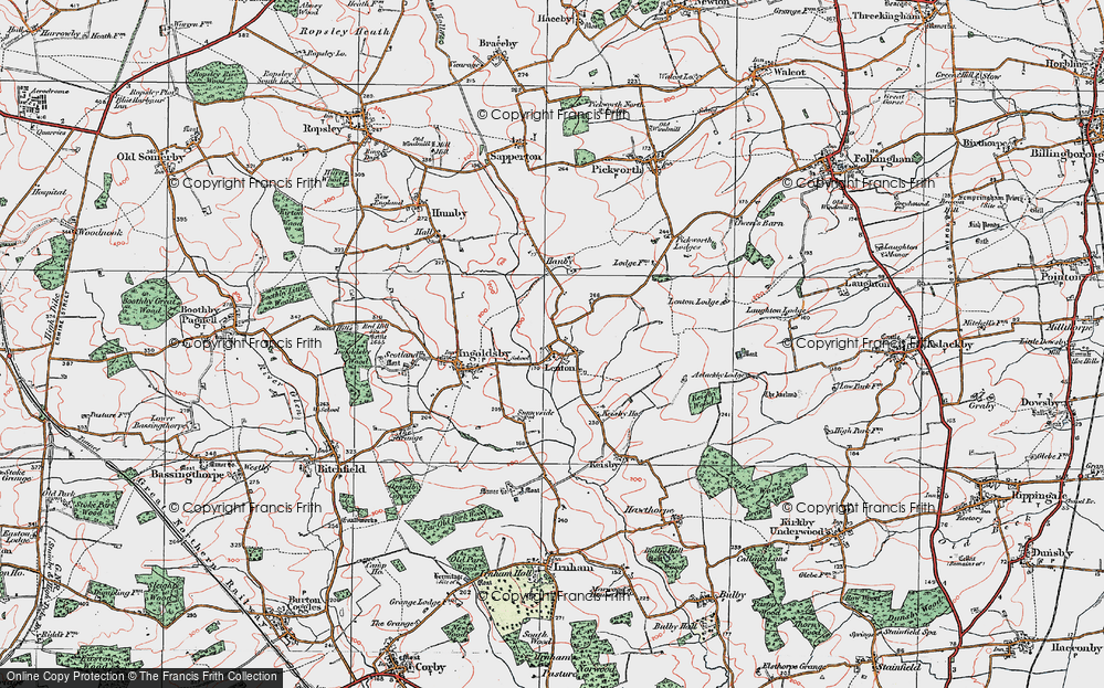 Old Map of Lenton, 1922 in 1922