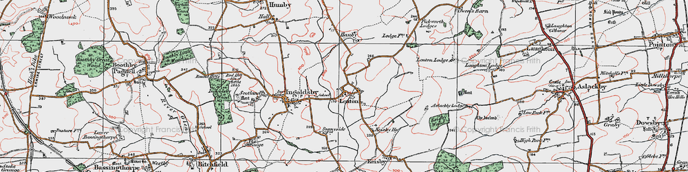 Old map of Lenton in 1922
