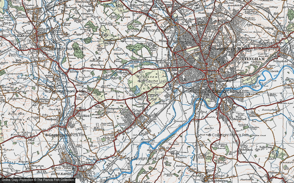 Old Map of Lenton Abbey, 1921 in 1921