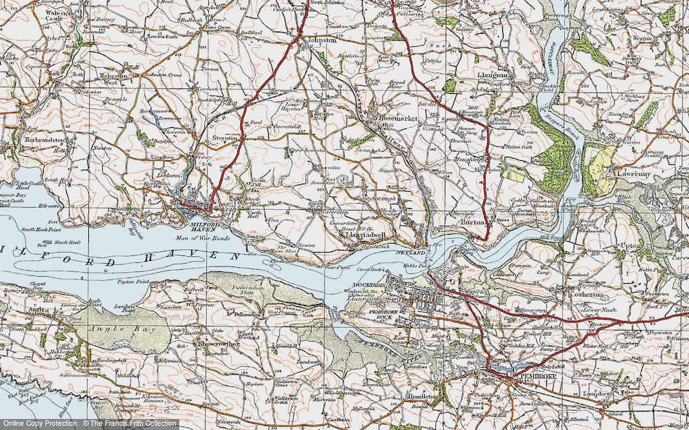 Old Map of Leonardston, 1922 in 1922