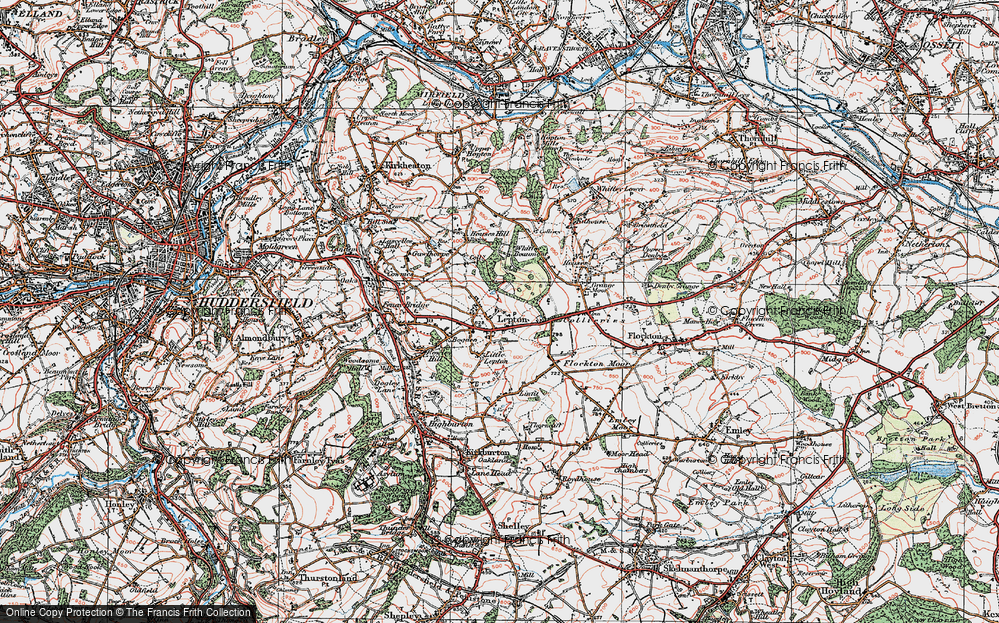 Old Map of Lepton, 1925 in 1925