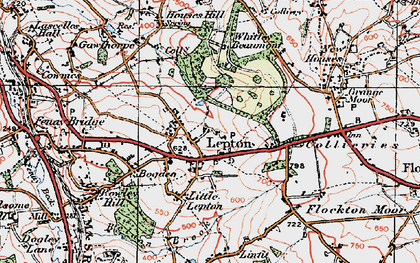 Old map of Lepton in 1925