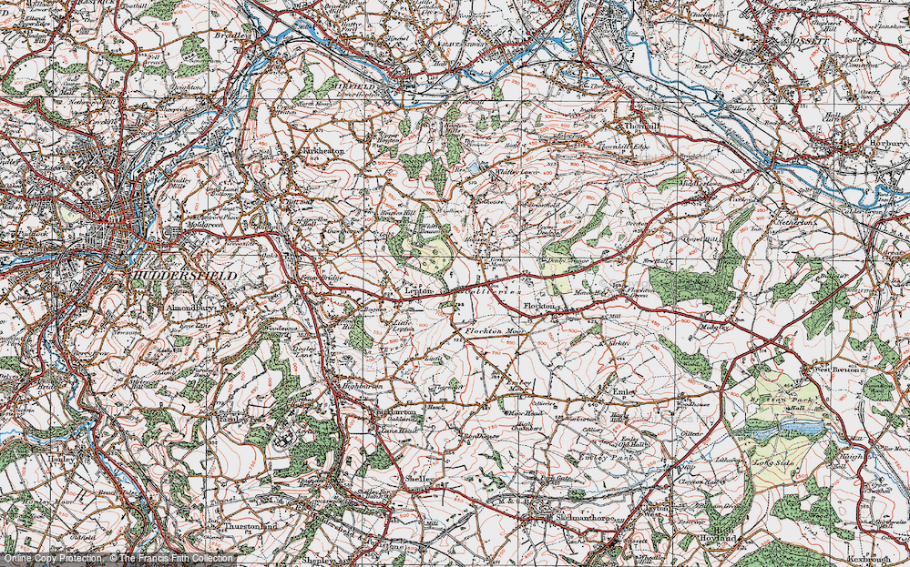 Old Map of Lepton Edge, 1925 in 1925