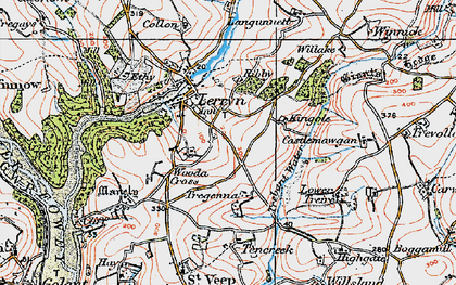 Old map of Collon in 1919