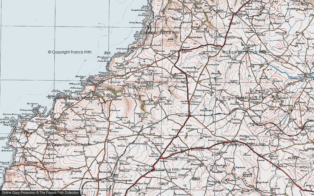 Old Map of Lesnewth, 1919 in 1919