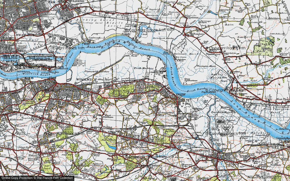 Old Map of Lessness Heath, 1920 in 1920
