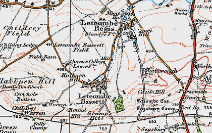 Old map of Antwicks Manor in 1919
