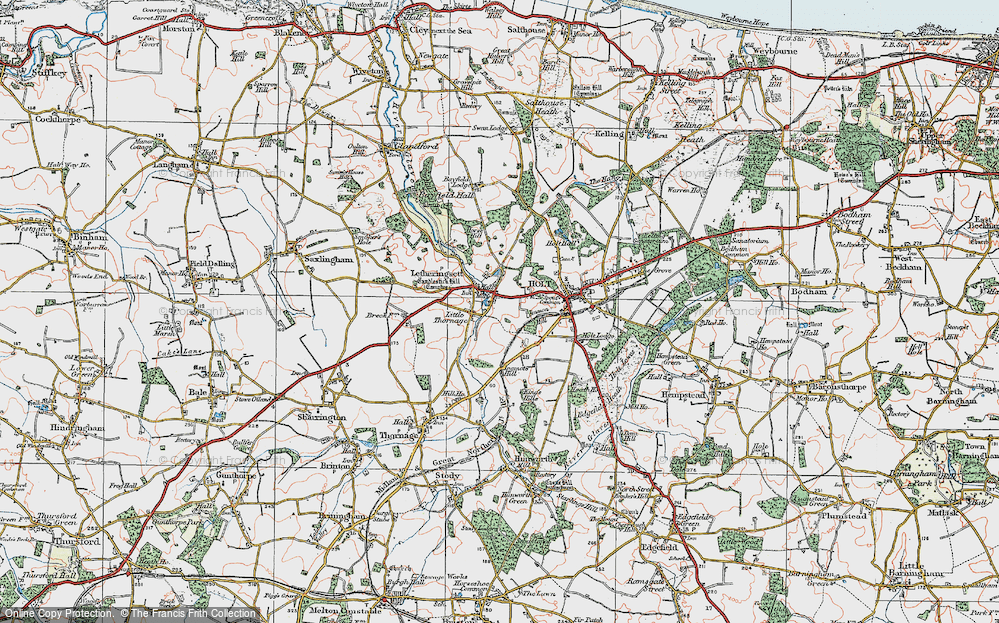 Old Map of Letheringsett, 1921 in 1921