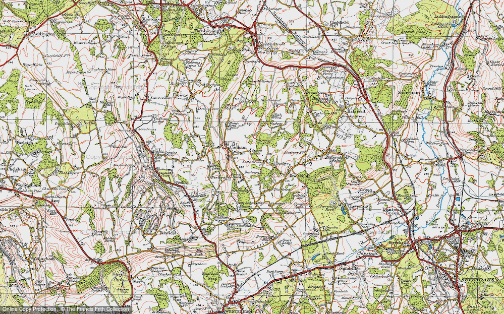 Old Map of Lett's Green, 1920 in 1920