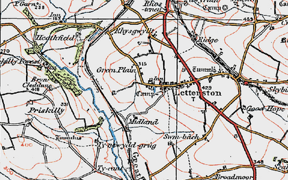 Old map of Letterston in 1922