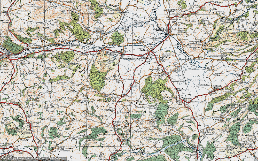 Old Map of Letton, 1920 in 1920
