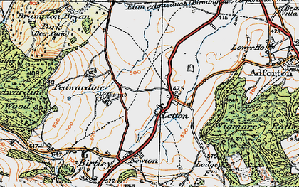 Old map of Letton in 1920