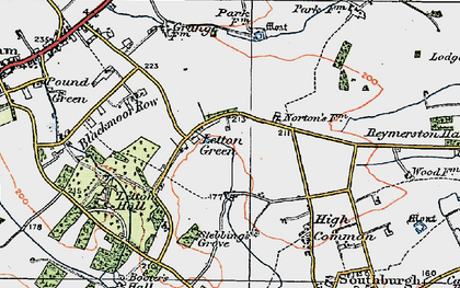 Old map of Letton Hall in 1921