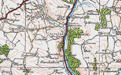Old map of Levalsa Meor in 1919
