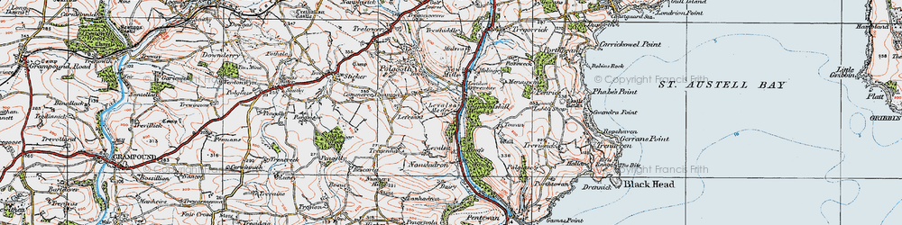 Old map of Levalsa in 1919