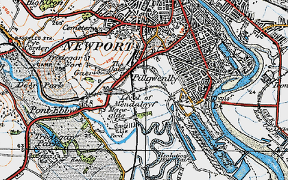 Old map of Level of Mendalgief in 1919