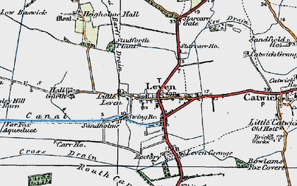 Old map of Leven in 1924