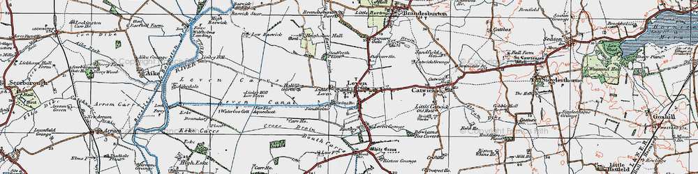 Old map of Leven Carrs in 1924