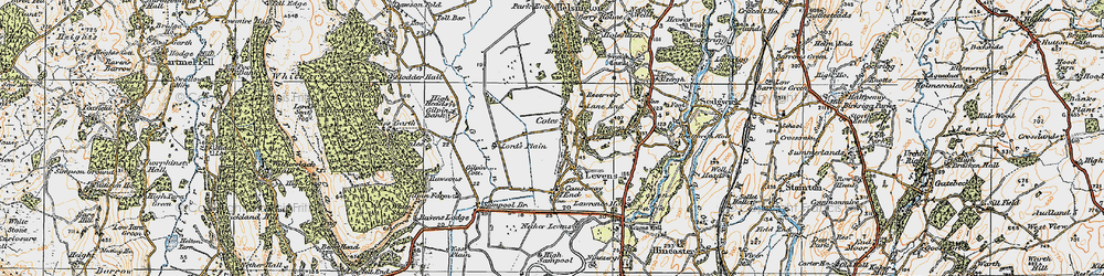 Old map of Levens in 1925