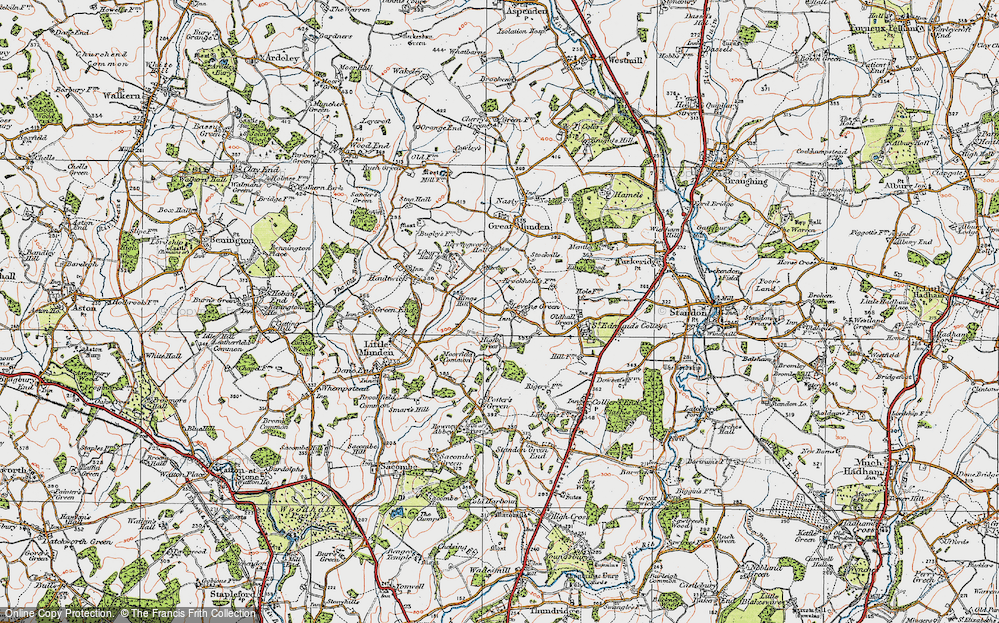 Old Map of Levens Green, 1919 in 1919