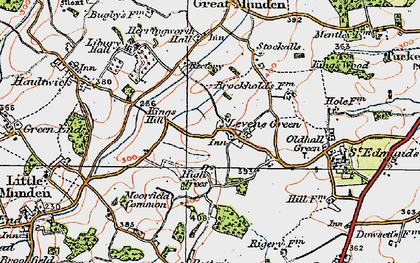 Old map of Levens Green in 1919
