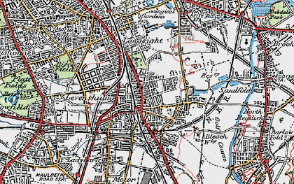 Old map of Levenshulme in 1924