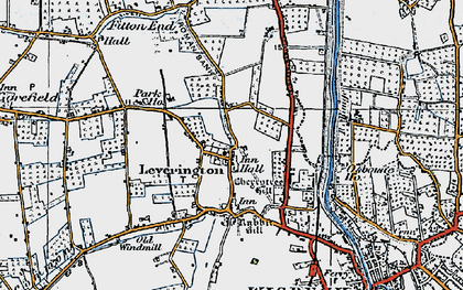 Old map of Leverington in 1922
