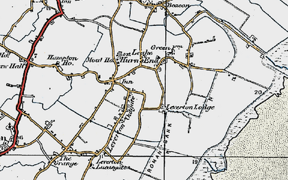 Old map of Leverton Outgate in 1922