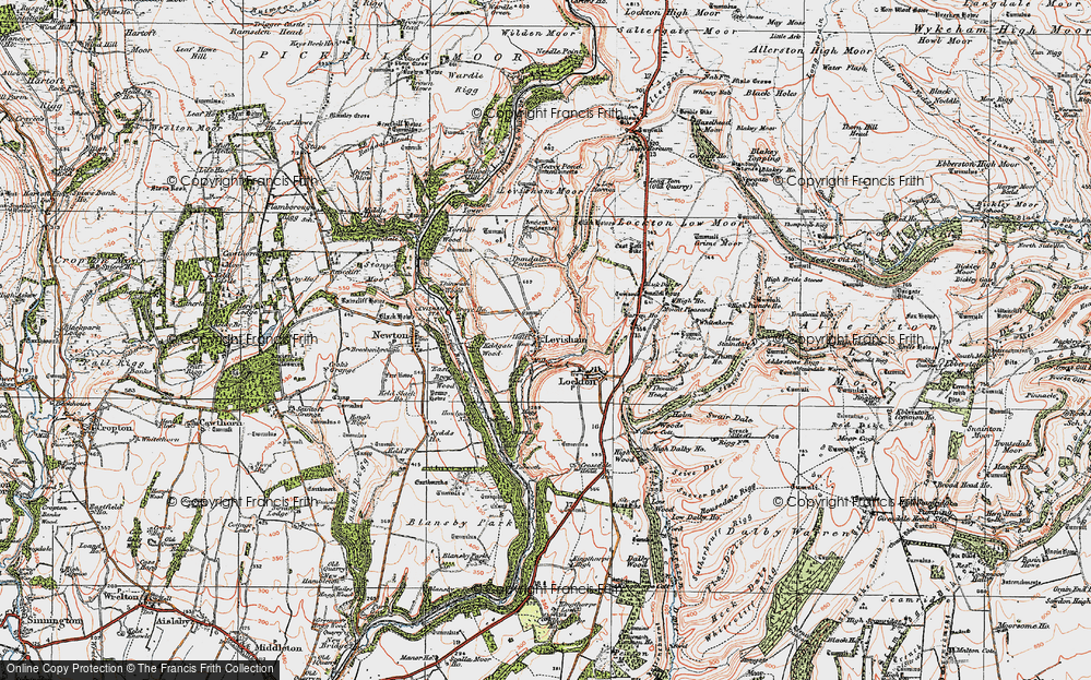 Old Map of Historic Map covering Levisham Beck in 1925