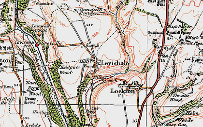 Old map of Levisham Beck in 1925