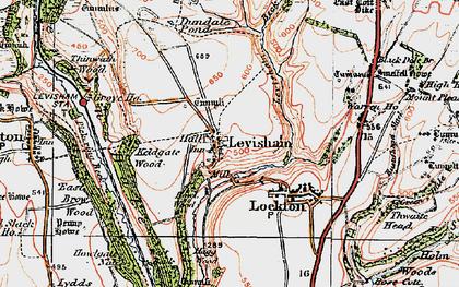 Old map of Levisham in 1925