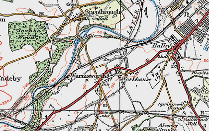 Old map of Levitt Hagg in 1923