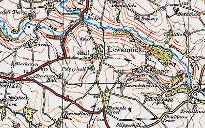 Old map of Tinney Hall in 1919